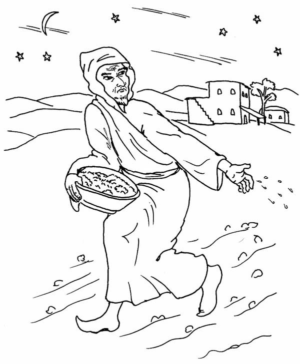 Parable of the Sower, : How to Draw Parable of the Sower Coloring Page