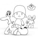 Pocoyo, How To Draw Pocoyo And Friends Coloring Page: How to Draw Pocoyo and Friends Coloring Page