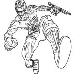 Power Rangers, How To Draw Power Rangers SPD Coloring Page: How to Draw Power Rangers SPD Coloring Page