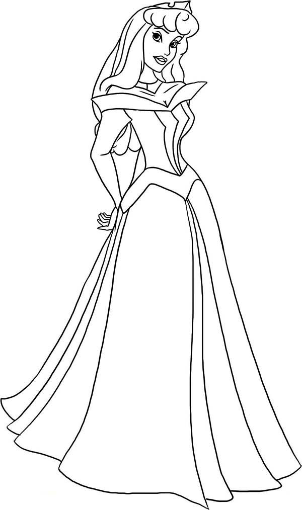 How To Draw Princess Aurora In Sleeping Beauty Coloring ...