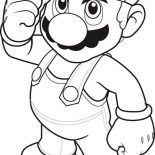 Mario Brothers, How To Draw Super Mario Brothers Coloring Page: How to Draw Super Mario Brothers Coloring Page