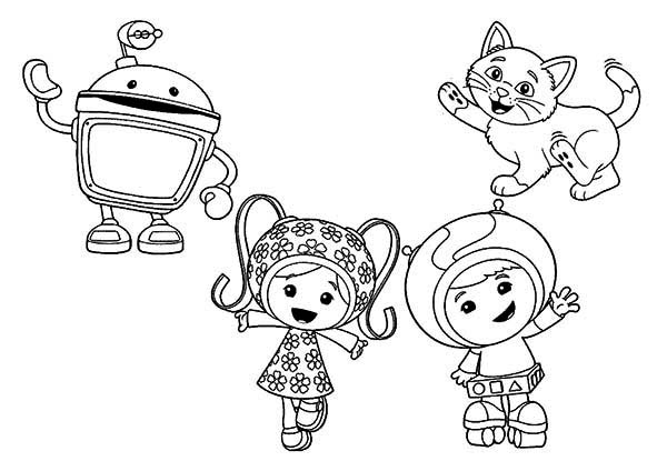 Team Umizoomi, : How to Draw Team Umizoomi Coloring Page