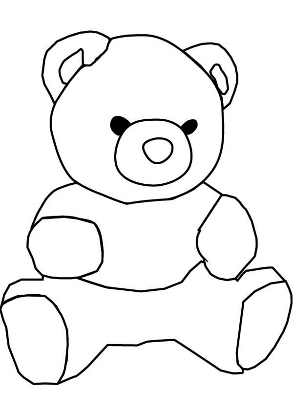 How To Draw Teddy Bear Coloring Page Color Luna