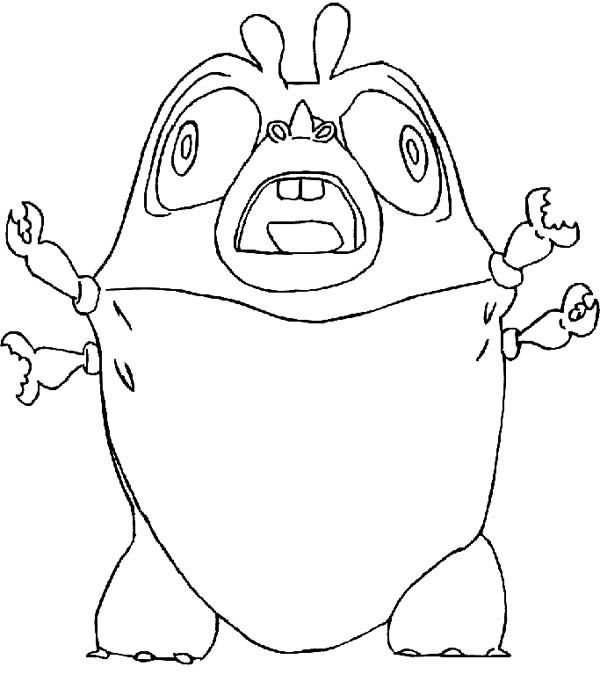 Monsters vs Aliens, : Insectosaurus Scream in Monster vs Aliens Coloring Page