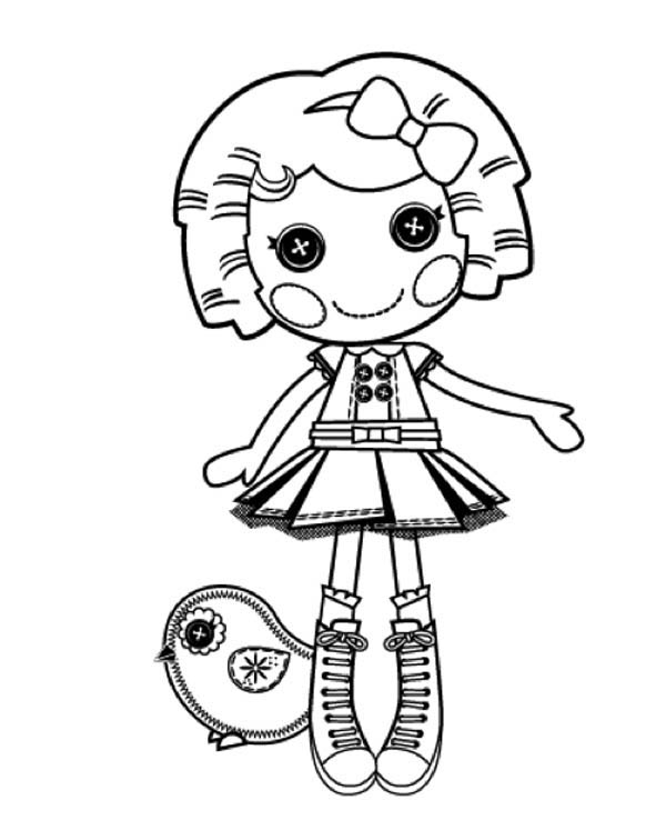 Its A Blast Say Dot Starlight In Lalaloopsy Coloring Page ...