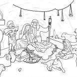Nativity, Jesus Born In Bethlehem In Nativity Coloring Page: Jesus Born in Bethlehem in Nativity Coloring Page
