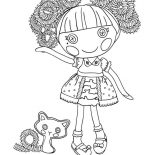 Lalaloopsy, Jewel Sparkles From Lalaloopsy Coloring Page: Jewel Sparkles from Lalaloopsy Coloring Page