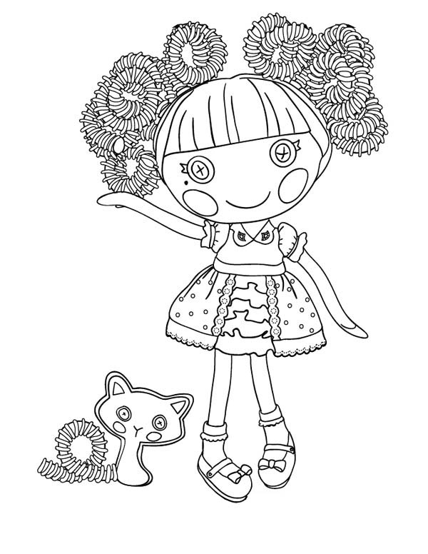 Lalaloopsy, : Jewel Sparkles from Lalaloopsy Coloring Page