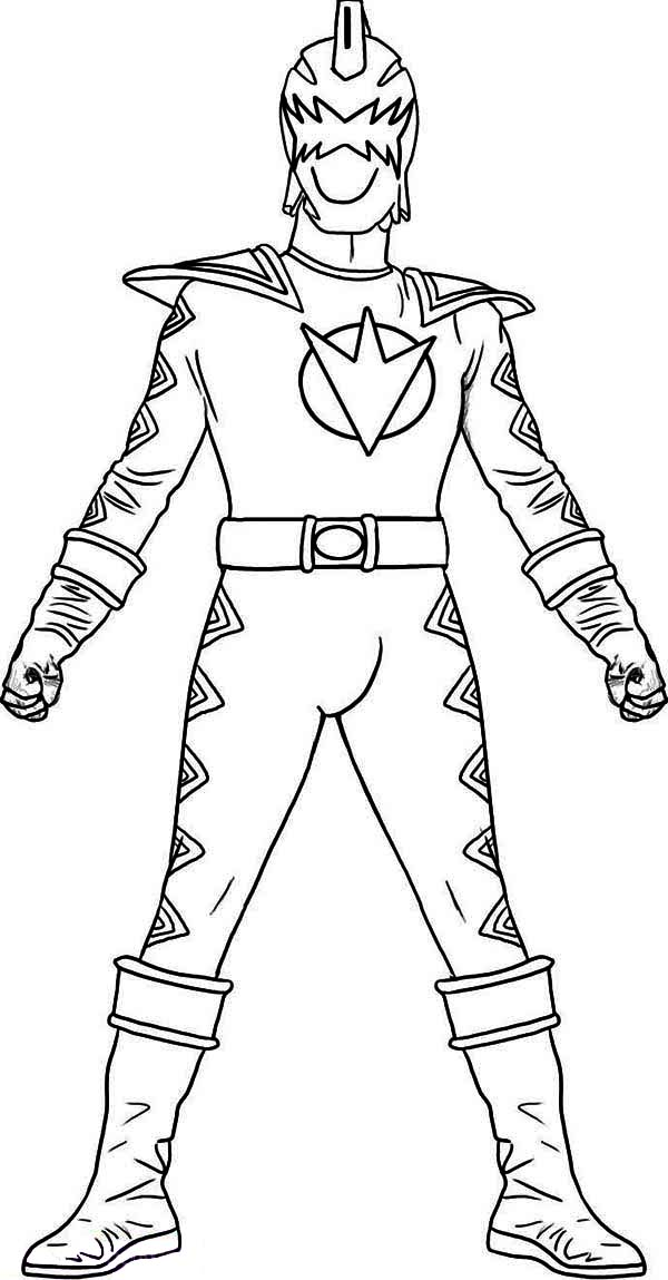 Power Rangers, : Kids Drawing of Power Rangers Coloring Page
