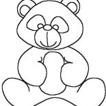 Teddy Bear, Kids Drawing Of Teddy Bear Coloring Page: Kids Drawing of Teddy Bear Coloring Page