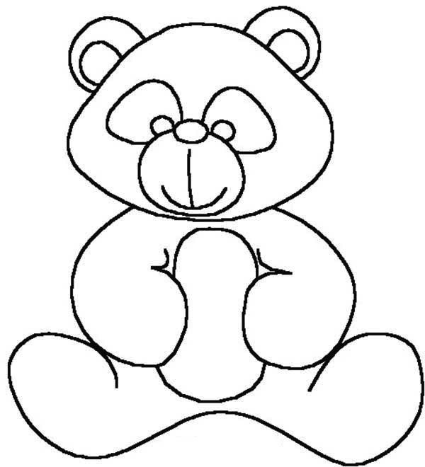 Teddy Bear, : Kids Drawing of Teddy Bear Coloring Page