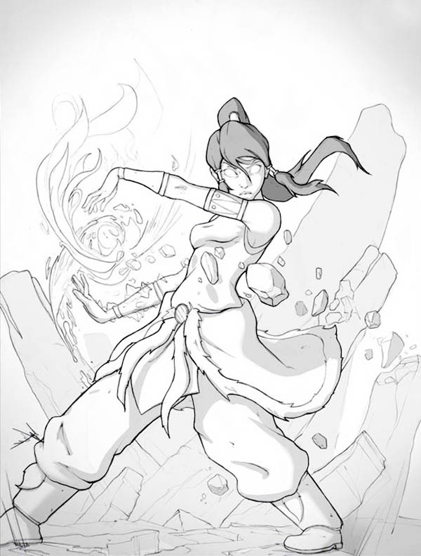 Korra Become Fought In Avatar Form Coloring Page : Color Luna