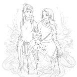 The Legend of Korra, Korra And Katara Coloring Page: Korra and Katara Coloring Page