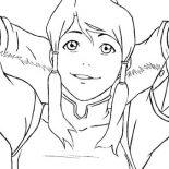 The Legend of Korra, Korra Is Relax Coloring Page: Korra is Relax Coloring Page