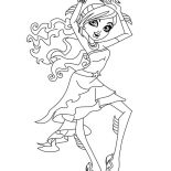 Monster High, Lagoona Blue From Monster High Coloring Page: Lagoona Blue from Monster High Coloring Page