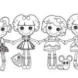 Lalaloopsy, Lalaloopsy Characters Coloring Page: Lalaloopsy Characters Coloring Page