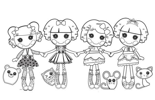 Lalaloopsy, : Lalaloopsy Characters Coloring Page