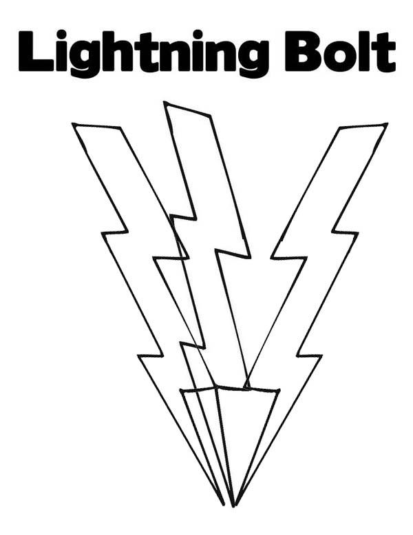 Lightning Bolt, : Lighting Bolt Coloring Page for Kids