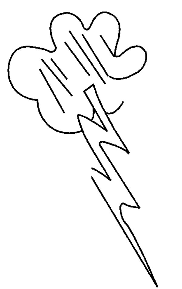 lightning bolt coloring pages | Lighting Bolt Picture Coloring Page : Color Luna