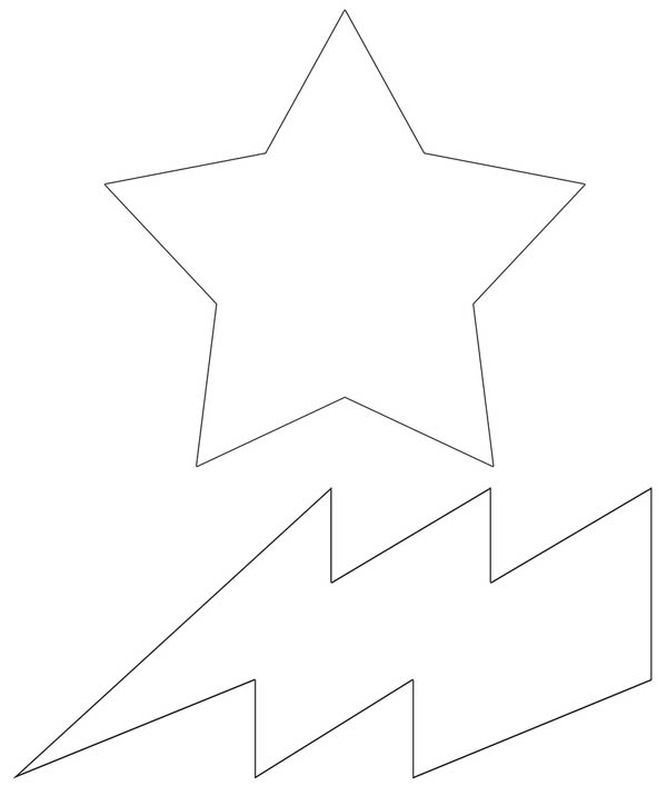 lightning bolt coloring pages | Lighting Bolt And Star Coloring Page : Color Luna