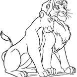 Lion, Lion Coloring Page: Lion Coloring Page
