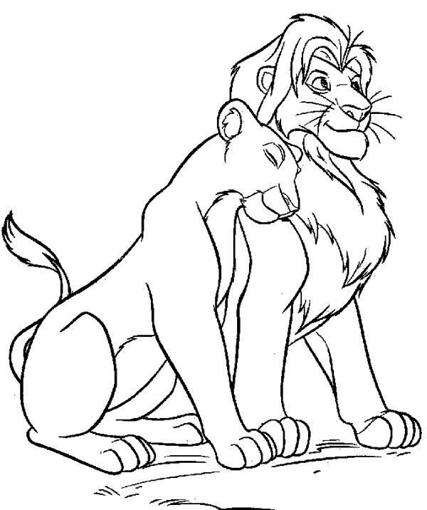 Lion, : Lion Coloring Page