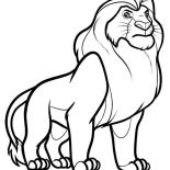 Lion, Lion King Coloring Page: Lion King Coloring Page