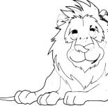 Lion, Lion Take A Rest After Hunting Coloring Page: Lion Take a Rest After Hunting Coloring Page