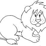 Lion, Little Lion Picture Coloring Page: Little Lion Picture Coloring Page