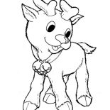 Rudolph, Little Rudolph The Red Nosed Reindeer Coloring Page: Little Rudolph the Red Nosed Reindeer Coloring Page