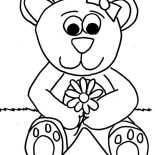 Teddy Bear, Lovely Teddy Bear Coloring Page: Lovely Teddy Bear Coloring Page