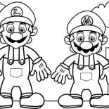 Mario Brothers, Mario And Luigi In Mario Brothers Coloring Page: Mario and Luigi in Mario Brothers Coloring Page