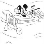 Mickey Mouse Playing Golf Coloring Page : Color Luna