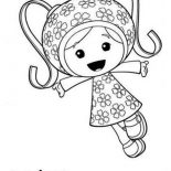 Team Umizoomi, Milli And Her Pattern Power In Team Umizoomi Coloring Page: Milli and Her Pattern Power in Team Umizoomi Coloring Page