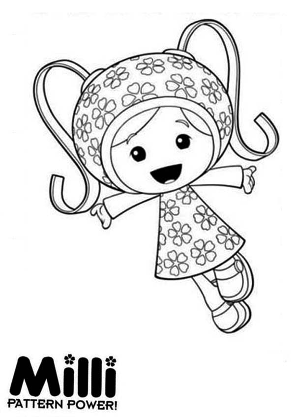 Team Umizoomi, : Milli and Her Pattern Power in Team Umizoomi Coloring Page
