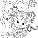 Team Umizoomi, Milli From Team Umizoomi Coloring Page: Milli from Team Umizoomi Coloring Page