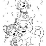 Team Umizoomi, Milli Is Kitten Love In Team Umizoomi Coloring Page: Milli is Kitten Love in Team Umizoomi Coloring Page
