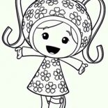Team Umizoomi, Milli Is So Happy In Team Umizoomi Coloring Page: Milli is so Happy in Team Umizoomi Coloring Page