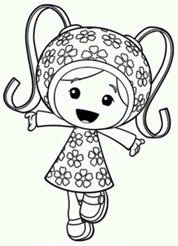 Team Umizoomi, : Milli is so Happy in Team Umizoomi Coloring Page