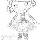 Lalaloopsy, Mitten Fliff N Stuff From Lalaloopsy Coloring Page: Mitten Fliff N Stuff from Lalaloopsy Coloring Page