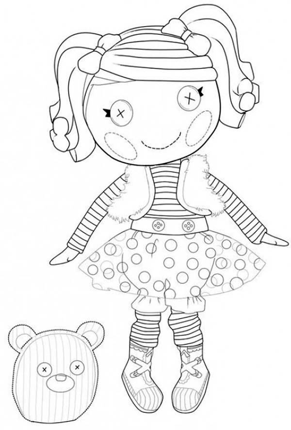 Lalaloopsy, : Mitten Fliff N Stuff from Lalaloopsy Coloring Page