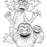 Monsters, Monster Gremlins Coloring Page: Monster Gremlins Coloring Page