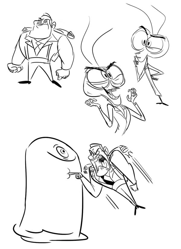 Monsters vs Aliens, : Monster vs Aliens Poster Coloring Page