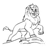 Lion, Mufasa From The Lion King Coloring Page: Mufasa from the Lion King Coloring Page