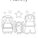 Nativity, Nativity Coloring Page For Kids: Nativity Coloring Page for Kids