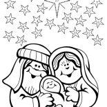 Nativity, Nativity Happen In  December 25 Coloring Page: Nativity Happen in  December 25 Coloring Page