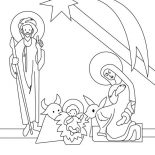 Nativity, Nativity Outline Picture Coloring Page: Nativity Outline Picture Coloring Page
