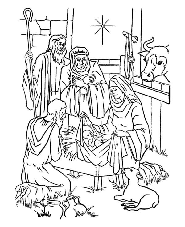 Nativity Of Jesus And Star Of Bethlehem