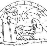 Nativity, Nativity The Birth Of Jesus Scene Coloring Page: Nativity the Birth of Jesus Scene Coloring Page