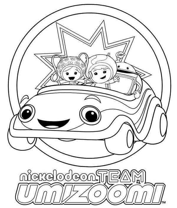 Nickelodeon Team Umizoomi Coloring Page Color Luna